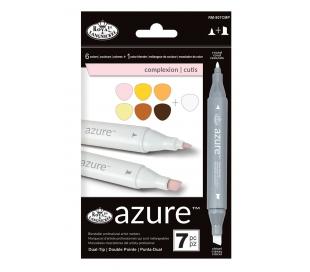 טושים לציור מקצועי סט 7 גווני פנים AZURE
