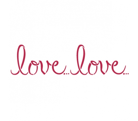 """שבלונות ליצירה -אהבה LOVE 15 * 38 ס""""מ"""