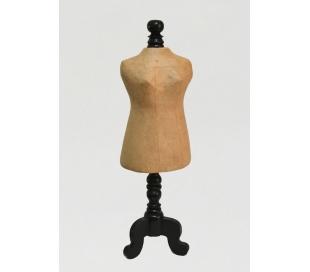 מעמד תכשיטים מעץ ועיסת נייר גוף אישה
