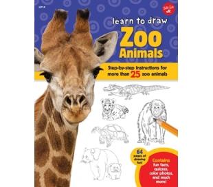 ספר לימוד ציור - גן חיות