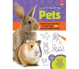 ספר לימוד ציור - חיות מחמד