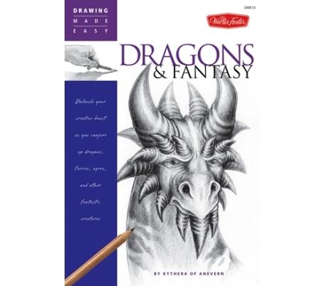 ספר ללימוד ציור בעפרונות רישום - דרקונים ופנטזיה