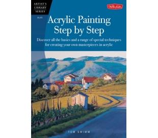 ספר ללימוד ציור באקריליק  - שלב אחר שלב