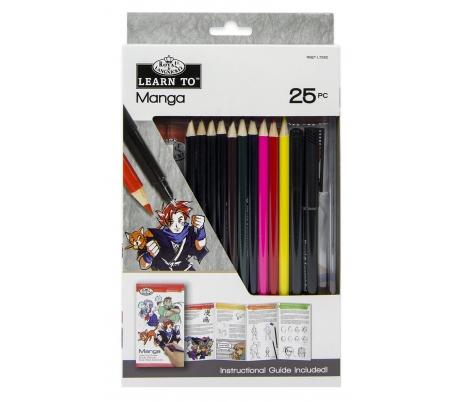 ערכה ללימוד ציורי מנגה בעפרונות