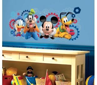 מדבקת קיר תמונה גדולה מיקי וחבריו