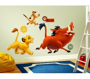 מדבקת קיר גדולה של סימבה וחבריו