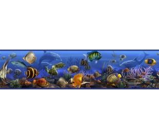 מדבקת קיר בורדר של דגי ים