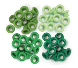 ניטים צבעוניים קטנים - גווני ירוק