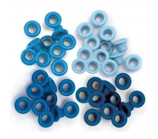 ניטים צבעוניים קטנים - גווני כחול