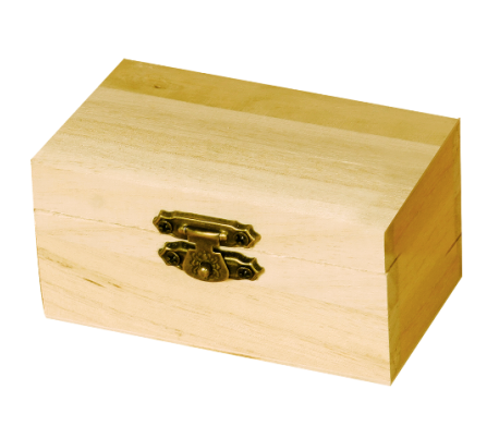 קופסת עץ קטנה במיוחד ליצירה