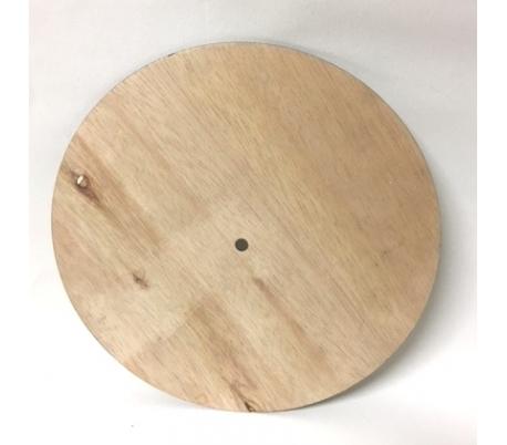 """לוח שעון עגול מעץ 25 ס""""מ"""