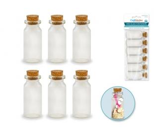 מארז בקבוקי זכוכית מיני  10 מל