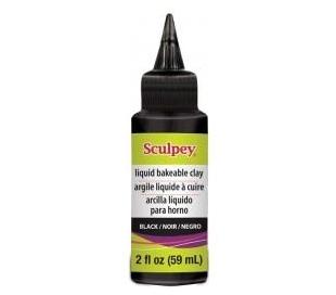 חימר נוזלי שחור - SCULPEY