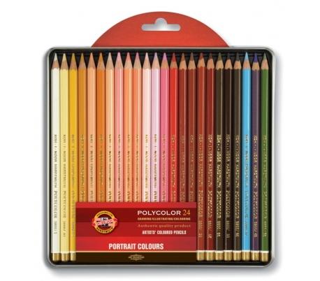 סט 24 עפרונות צבעוניים  קוהינור פוליקולור פורטרט