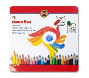סט עפרונות צבעוניים קוהינור מונה ליסה ב- 2 גדלים
