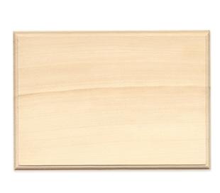 שלט מעץ צורת מלבן