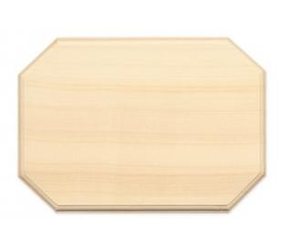 שלט מעץ צורת מלבן עם פינות ישרות
