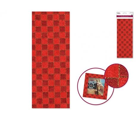 מדבקות בד ליצירה  -משבצות אדומות