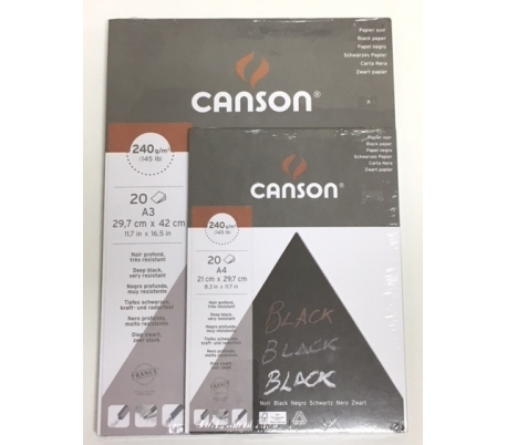 בלוק קנסון נייר שחור ב2 גדלים