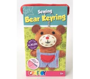 ערכת תפירה מחזיק מפתחות בצורת דובי