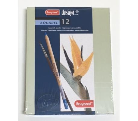 סט 12 עפרונות אקוורל איכותי - Bruynzeel