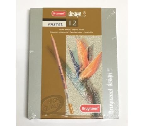 סט 12 עפרונות פסטל איכותי - BRUYNZEEL