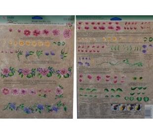 דף תירגול רב פעמי לציור דקורטיבי - ורדים