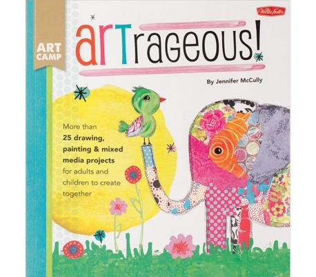 ספר הדרכה לציור ומיקס מדיה להורים וילדים