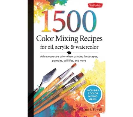 ספר הדרכה לעירבוב 1500 גווני צבע שונים לצבעי שמן, אקרליק ומים