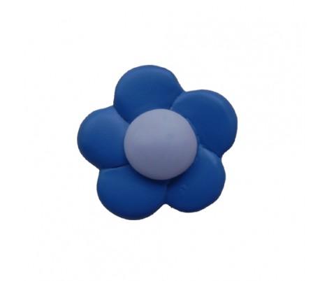 ידיות מעוצבות פרח כחול 4 סמ