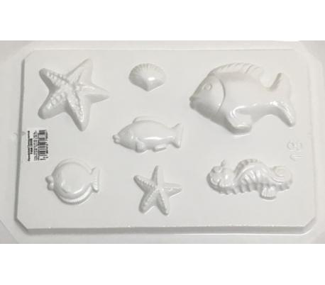 תבנית גבס ליצירה - חיים בים