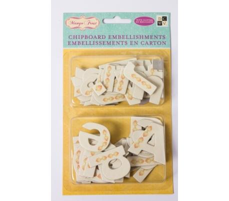 אותיות ציפבורד - 12 חבילות ABC עם נצנצים