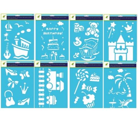 מארז 8 שבלונות 20*25 שונות ומדהימות  לילדים