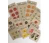 מדבקות פרחים יבשות באפוקסי 25 חבילות במחיר 1.20 יח