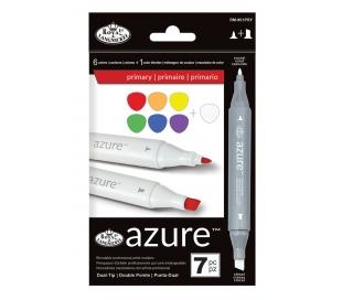 סט 7 טושים רוייאל אזור לציור מקצועי - צבעי יסוד