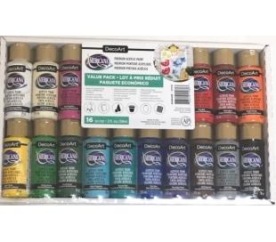 צבעי אמריקנה אקריליק מארז חיסכון