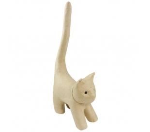 עיסת נייר חתול עם זנב ארוך עומד DECOUPATCH