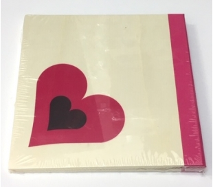 אלבום עיצוב לבבות A4 מעץ טבעי