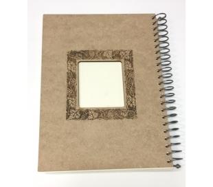אלבום עץ ספירלה A4 עם עיטור לייזר