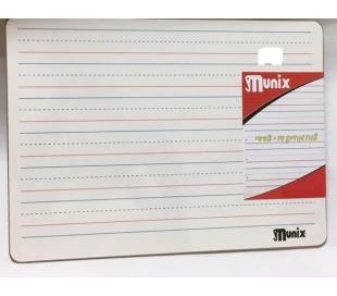 לוח מחיק דו צדדי עם קווים לתרגול כתיבה