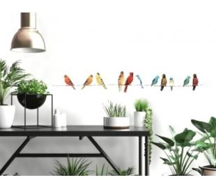 מדבקות קיר ציפורי שיר צבעוניים