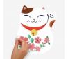 מדבקות קיר חתולי מזל