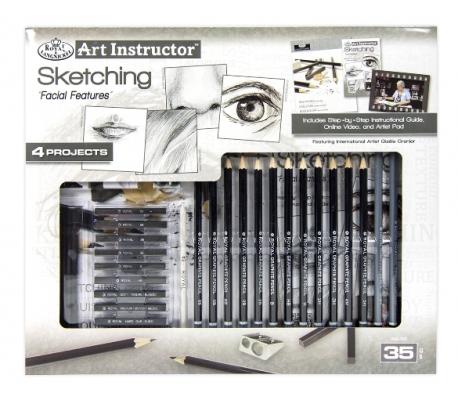 ערכה מקצועית ללימוד  ציורי רישום - פנים