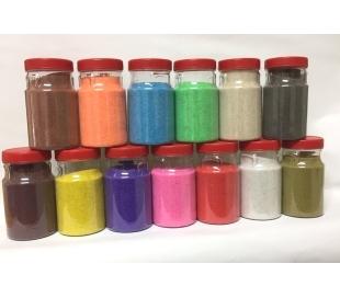 חול צבעוני במבחר 13 גוונים - 500 גרם