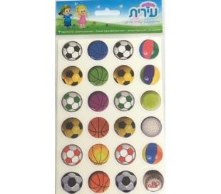 מדבקות לילדים כדורי ספורט
