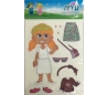 מדבקות ילדים ילדה מתלבשת