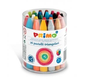 צבעי שעווה משולשים פרימו -26 יח