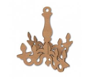 עיטור עץ במראה שנדליר תלת מיימד