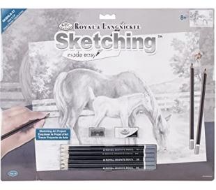 ערכה גדולה ללימוד רישום וציור - סוסים