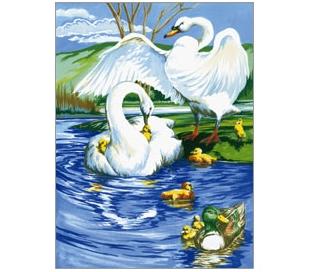 ערכת ציור לילדים - ברבורים לבנים